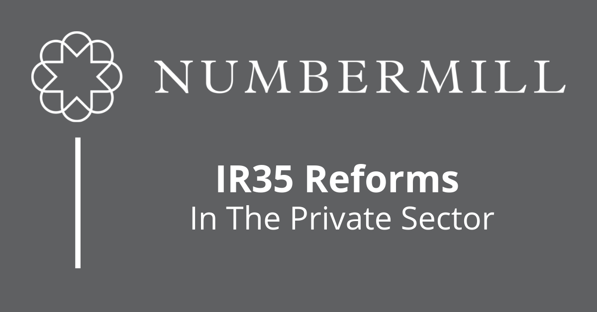 IR35 reforms in the Private Sector