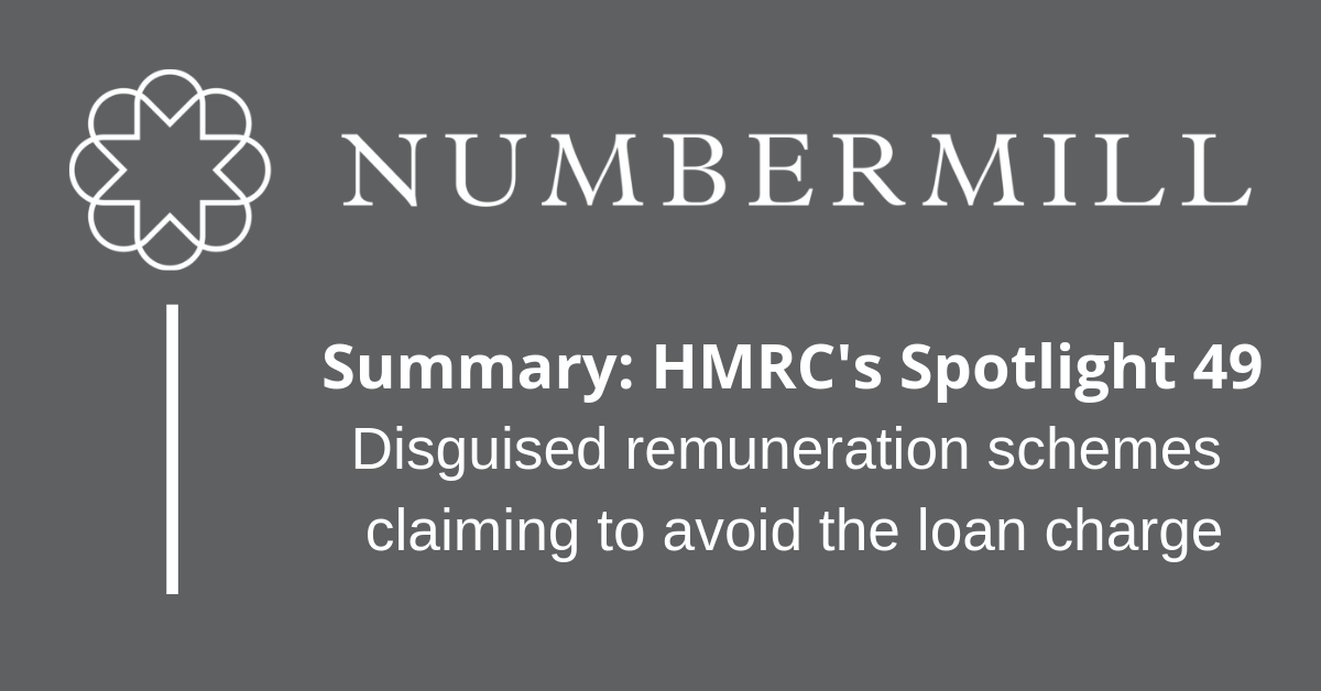 Summary of HMRC's Spotlight 49: