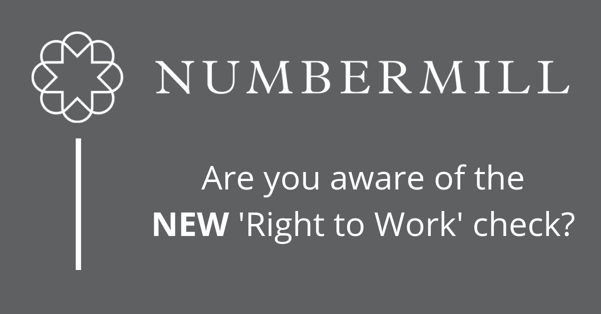 New 'Right to Work' checks!